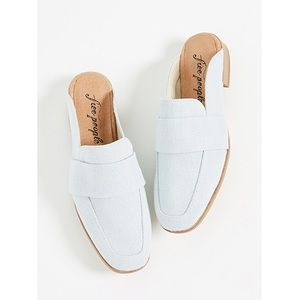 NIB Free People At Ease Loafer, Washed Denim, 36